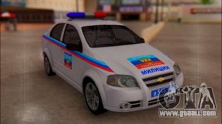 Chevrolet Aveo Police LNR for GTA San Andreas