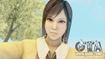 Kokoro wearing a school uniform (DOA5) for GTA San Andreas
