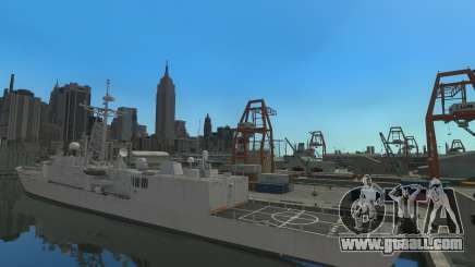 U.S. Navy frigate for GTA 4