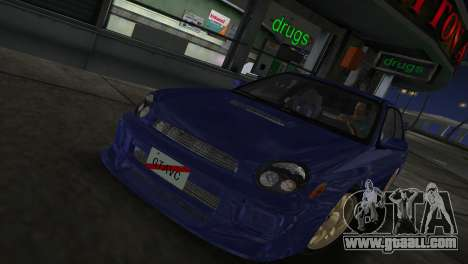 Subaru Impreza WRX 2002 Type 2 for GTA Vice City back left view