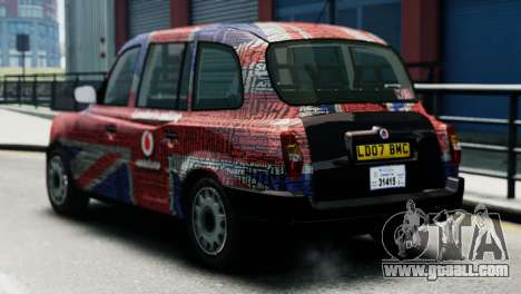 London Taxi Cab v2 for GTA 4 left view