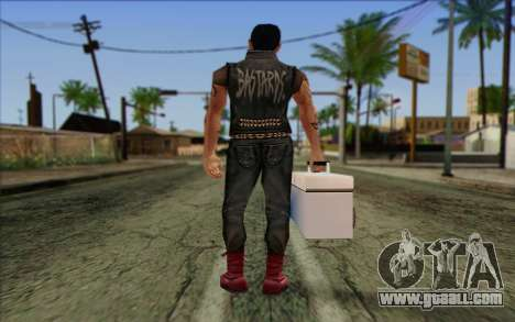 Claude in Pank Style for GTA San Andreas second screenshot