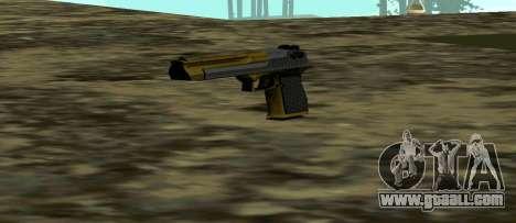 Gold Deagle for GTA San Andreas third screenshot