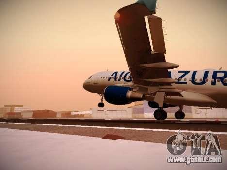 Airbus A320-211 Aigle Azur for GTA San Andreas interior