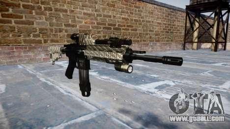 Automatic rifle Colt M4A1 carbon fiber for GTA 4
