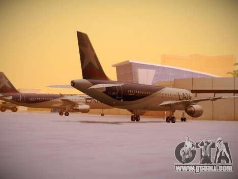 Airbus A320-214 LAN Airlines for GTA San Andreas right view