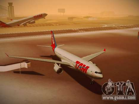 Airbus A330-200 TAM Airlines for GTA San Andreas side view