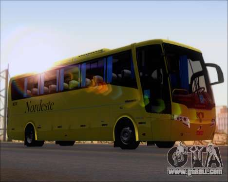 Busscar Elegance 360 Viacao Nordeste 8070 for GTA San Andreas back left view