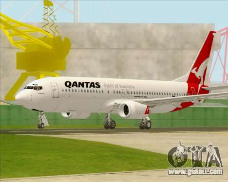 Boeing 737-838 Qantas for GTA San Andreas back left view