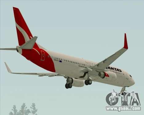 Boeing 737-838 Qantas for GTA San Andreas back view
