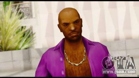 Purple Shirt Vic for GTA San Andreas third screenshot