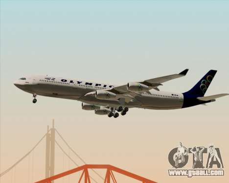 Airbus A340-313 Olympic Airlines for GTA San Andreas bottom view