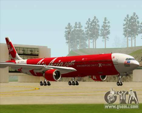 Airbus A330-300 Air Asia X for GTA San Andreas left view
