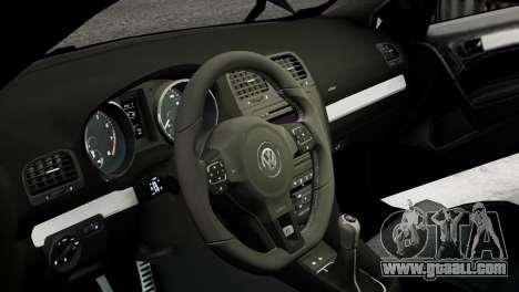 Volkswagen Golf R 2010 MTM Paintjob for GTA 4 inner view