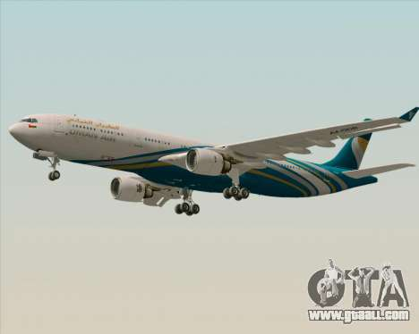 Airbus A330-300 Oman Air for GTA San Andreas side view