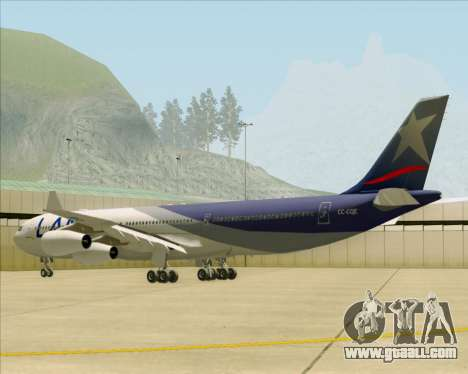 Airbus A340-313 LAN Airlines for GTA San Andreas right view