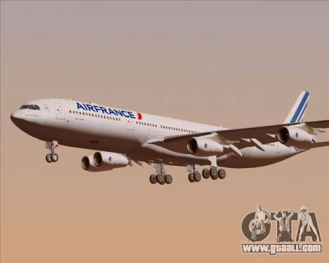 Airbus A340-313 Air France (New Livery) for GTA San Andreas engine