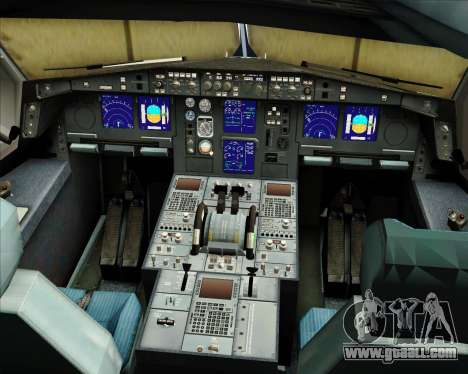 Airbus A330-300 Sabena for GTA San Andreas interior