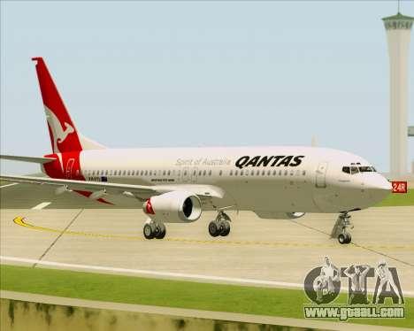 Boeing 737-838 Qantas for GTA San Andreas side view