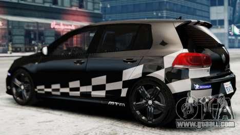 Volkswagen Golf R 2010 MTM Paintjob for GTA 4 left view