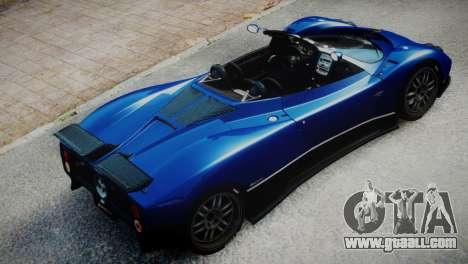 Pagani Zonda S (C12S) Roadster 2011 for GTA 4 back left view