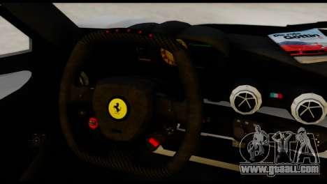Ferrari LaFerrari 2014 (HQLM) for GTA San Andreas back left view