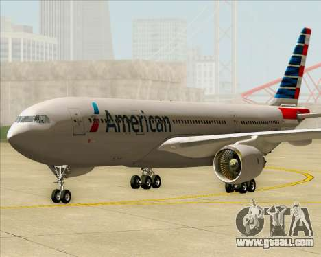 Airbus A330-200 American Airlines for GTA San Andreas back left view