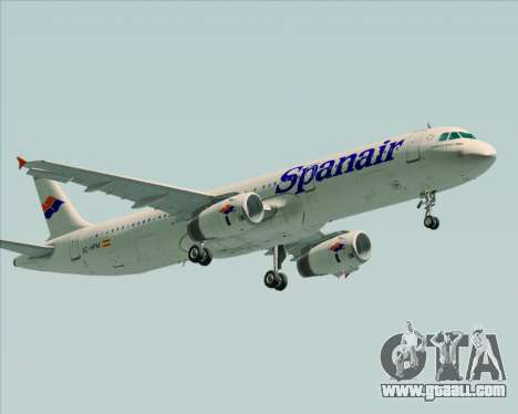 Airbus A321-231 Spanair for GTA San Andreas side view