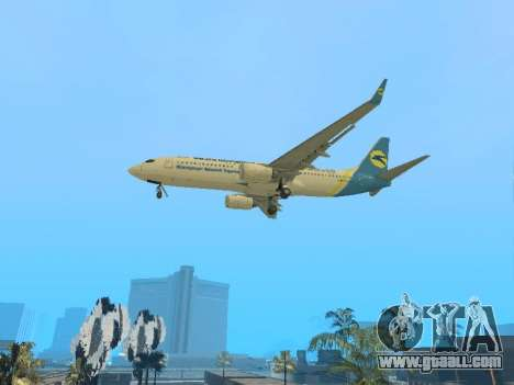 Boeing 737-84R Ukraine International Airlines for GTA San Andreas back view