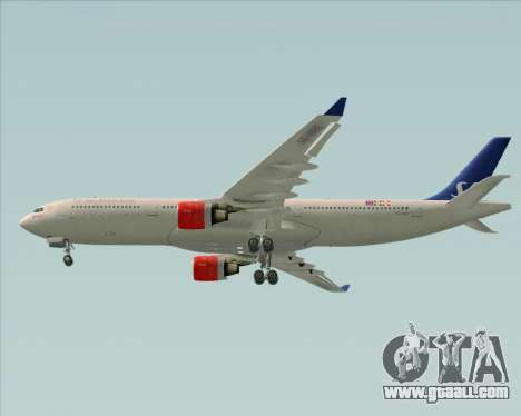 Airbus A330-300 Scandinavian Airlines System. for GTA San Andreas side view