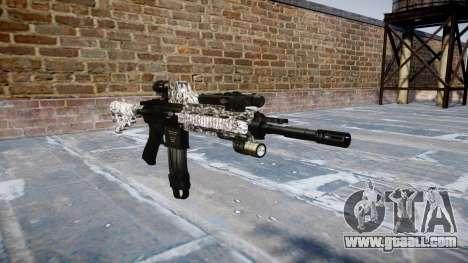 Automatic rifle Colt M4A1 diamond for GTA 4