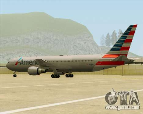 Boeing 767-323ER American Airlines for GTA San Andreas upper view