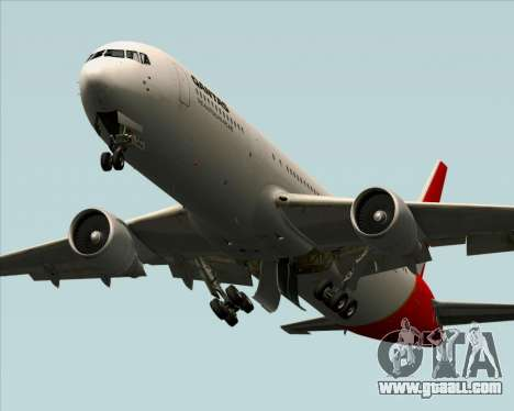 Boeing 767-300ER Qantas for GTA San Andreas bottom view