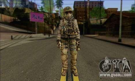 Task Force 141 (CoD: MW 2) Skin 7 for GTA San Andreas