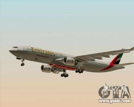 Airbus A330-300 Emirates for GTA San Andreas bottom view