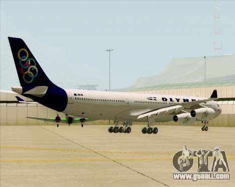Airbus A340-313 Olympic Airlines for GTA San Andreas back view