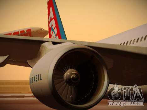 Airbus A330-200 TAM Airlines for GTA San Andreas wheels