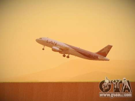 Airbus A320-214 LAN Airlines for GTA San Andreas bottom view