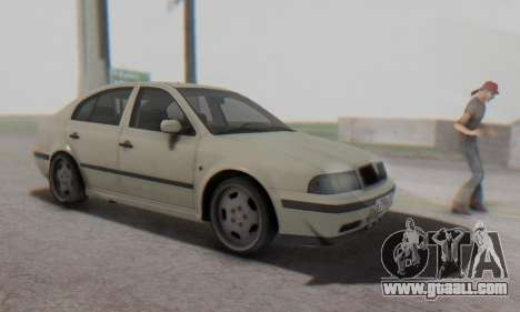 Skoda Octavia for GTA San Andreas back view
