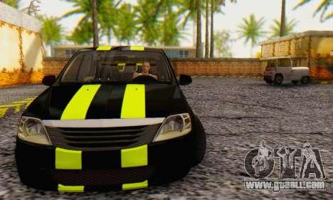 Dacia Logan Black Style for GTA San Andreas left view