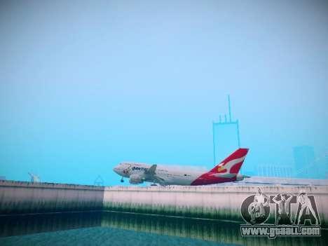 Boeing 747-438 Qantas Boxing Kangaroo for GTA San Andreas back view