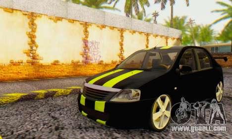 Dacia Logan Black Style for GTA San Andreas