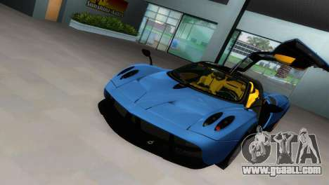 Pagani Huayra 2012 for GTA Vice City back view