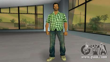 Kockas polo - zold T-Shirt for GTA Vice City second screenshot