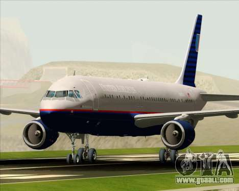 Airbus A320-232 United Airlines (Old Livery) for GTA San Andreas