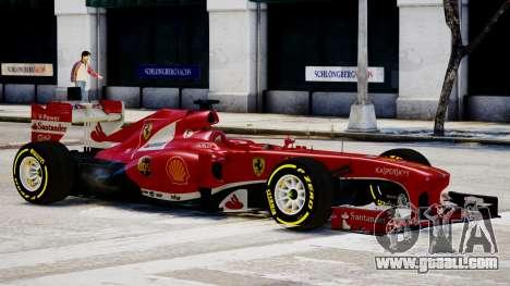 Ferrari F138 v2 for GTA 4 back left view