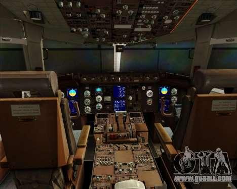 Boeing 767-300ER Australian Airlines for GTA San Andreas interior