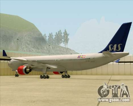 Airbus A330-300 Scandinavian Airlines System. for GTA San Andreas back left view
