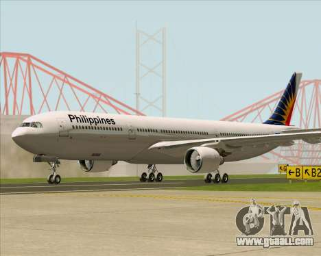 Airbus A330-300 Philippine Airlines for GTA San Andreas back left view