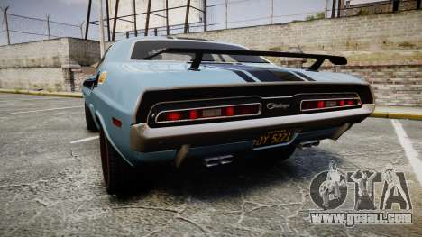 Dodge Challenger 1971 v2.2 PJ2 for GTA 4 back left view